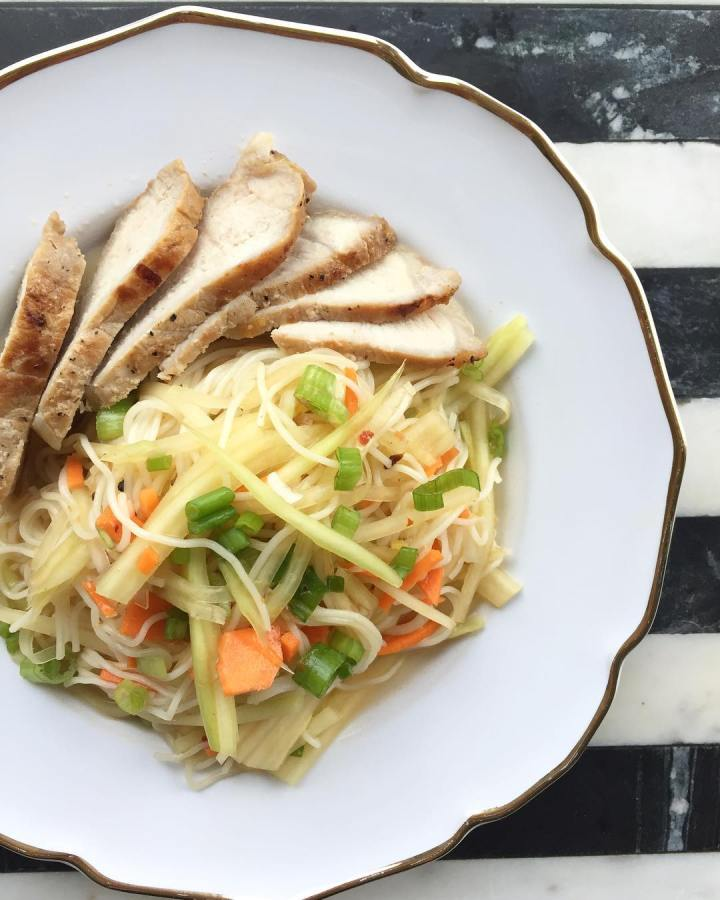 Vietnamese Pork Chops with Green Papaya Salad+Somen