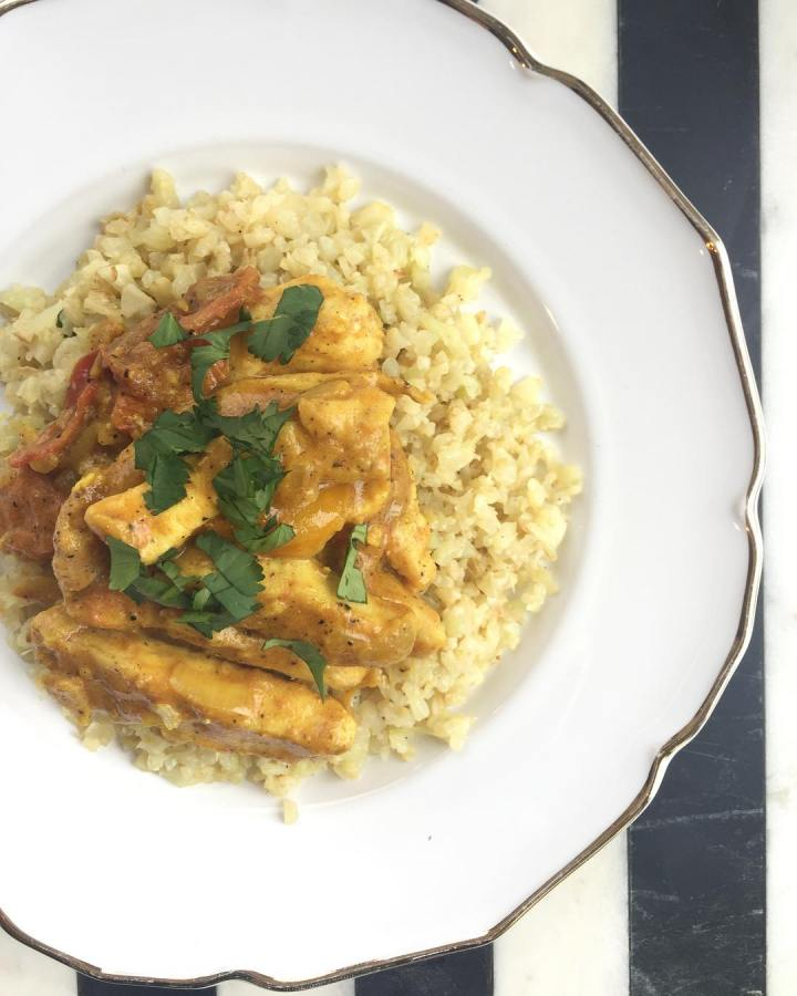 Coconut Curry Chicken with Cauliflower Rice