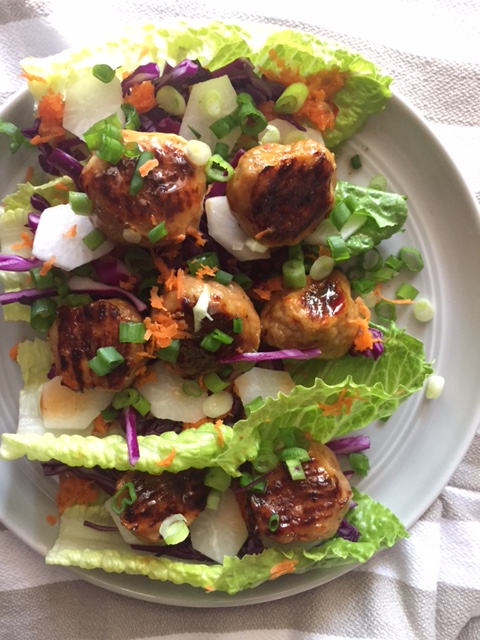 Thai Turkey Meatball Salad